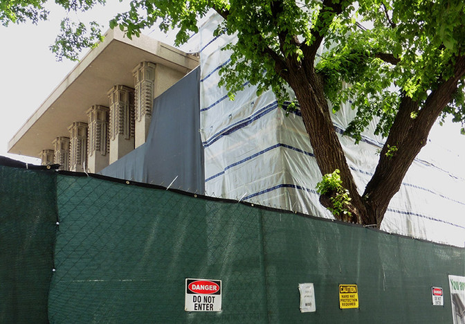 Wright's Temple is Unwrapped