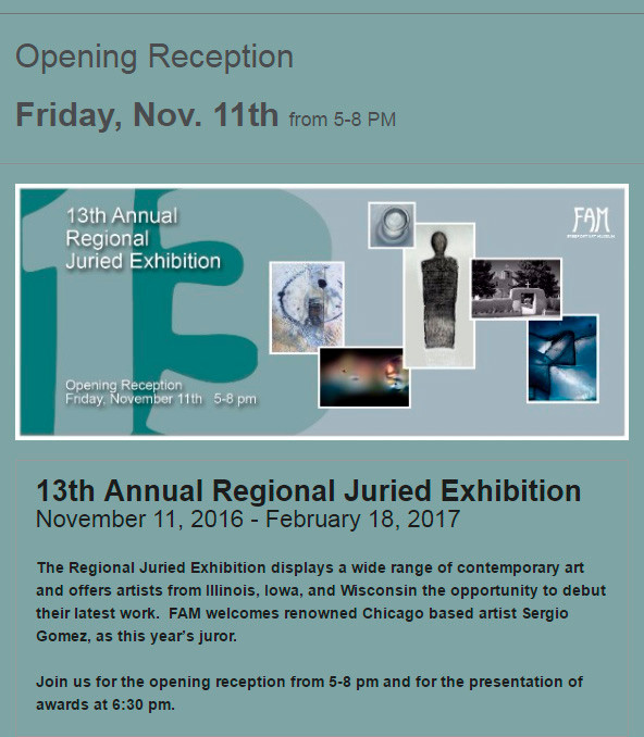 13th Annual Regional Juried Exhibition at FAM