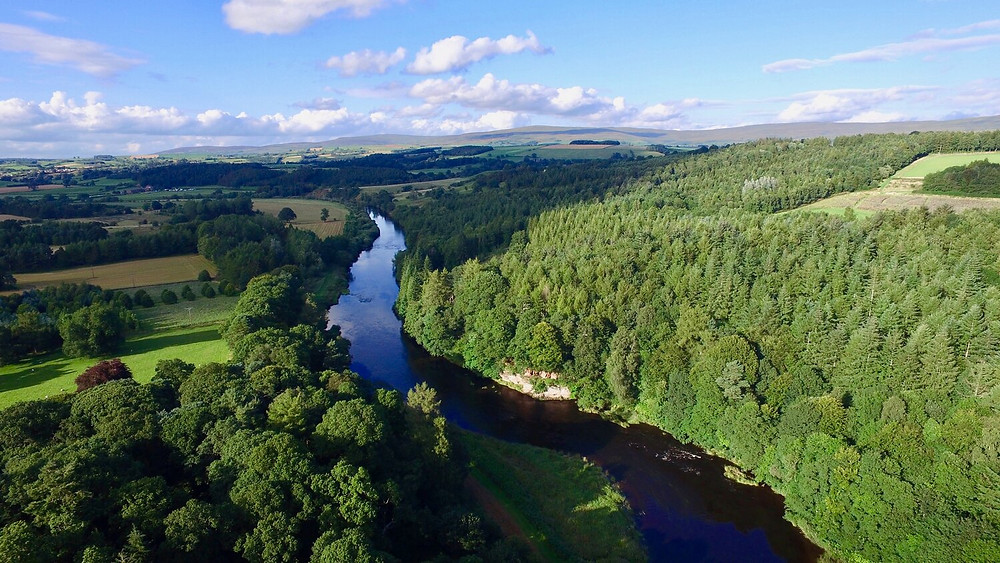 The River Eden flowing through the Eden Valley