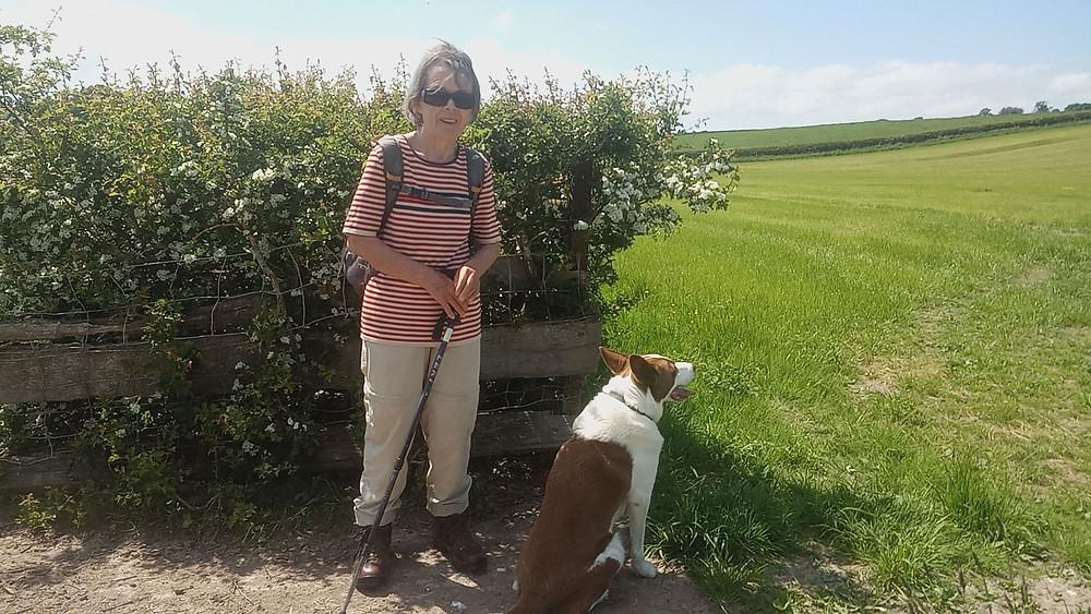 Scalesceugh Hall & Villas' Resident, Christine, enjoying a walk in Cumbrian countryside