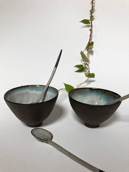 wang moon dipping bowls sky blue kiss