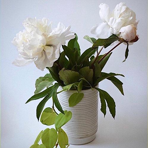 Skinny Grooved Vase