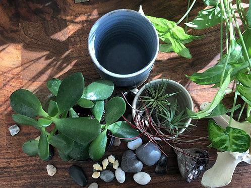Groove Vase in Gray