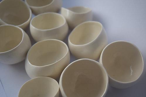 Porcelain salt/spice cellars