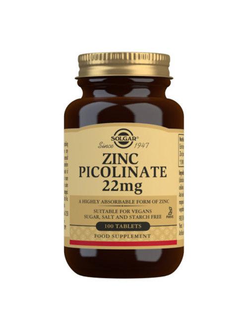 Solgar Zinc 22 mg 100 tablets