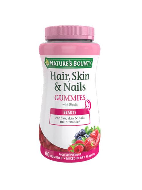 Natures Bounty Hair, skin & nails 60 gummies
