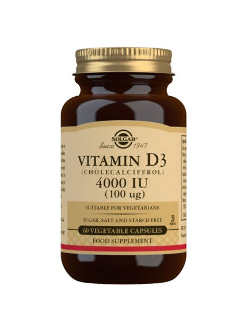 Solgar Vitamin D3 4000IU 120 capsules