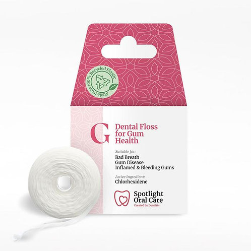 Spotlight Dental floss for gum health