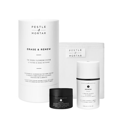Pestle and Mortar Erase and Renew- The double cleansing system