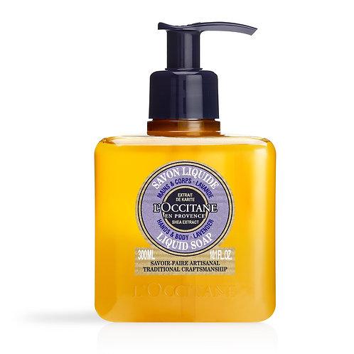Loccitane Shea Lavender Hands & Body Liquid Soap 300ml