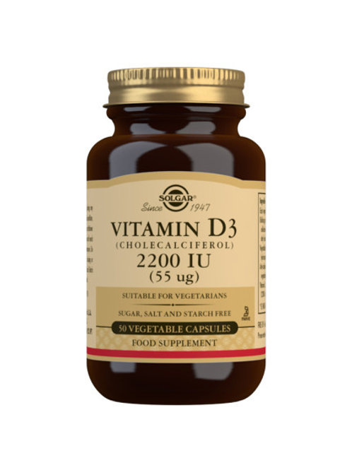 Solgar Vitamin D3 2200IU 50 capsules