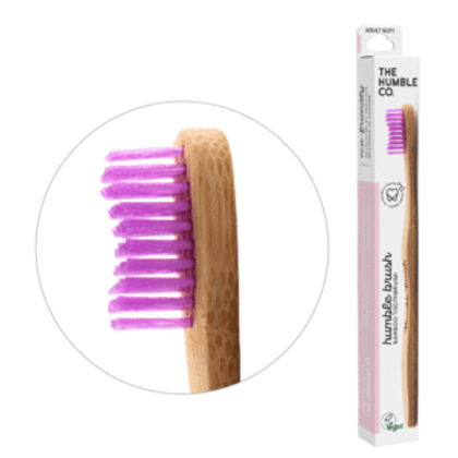 Humble Bamboo toothbrush medium pink