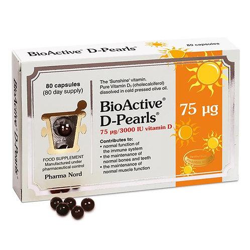BioActive D Pearls 75 IU 80 caps