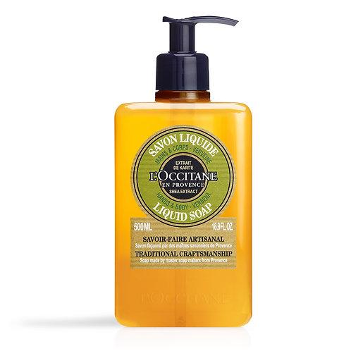 Loccitane Luxury Size Shea Verbena Hands & Body Liquid Soap 500ml