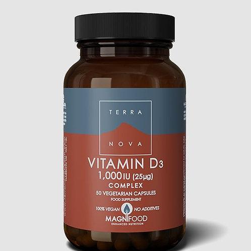 Terra Nova Vitamin D3 1000IU 50 caps