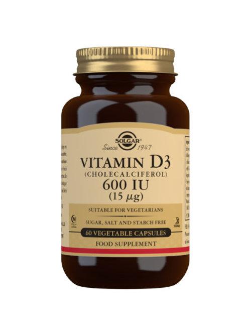 Solgar Vitamin D3 600IU 60 capsules