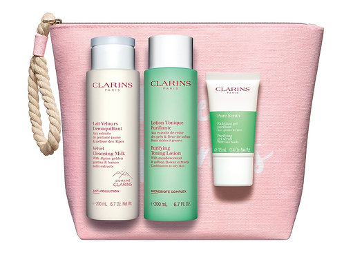 Clarins Cleansing bag for combination to oily skin