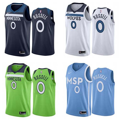 Men D'Angelo Russell Icon Edition Navy Blue, White, Neon Green, Light Blue