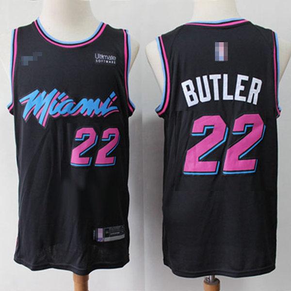 the best attitude 3e48c fa2a8 Men Jimmy Butler City Edition Black, White, Pink, Light Blue | YUKIJERSEY