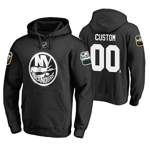 Men Custom Printing All-Star Pullover Hoodie Black, White