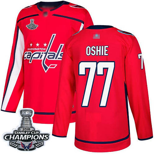 Men T.J. Oshie Stanley Cup Final Champions Home, Road, Alternate, Stadium