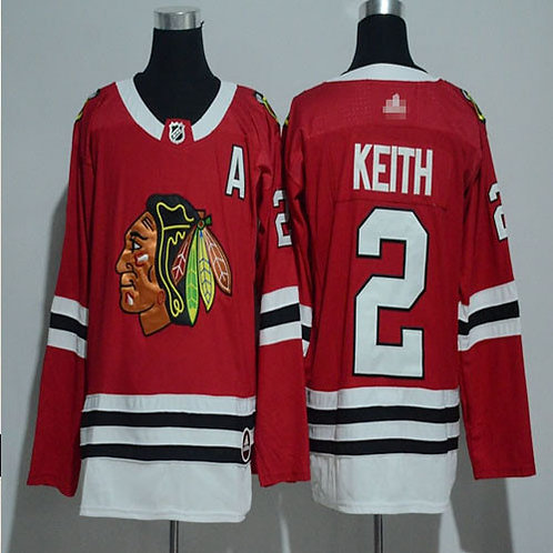 Youth Duncan Keith Red, White, Black