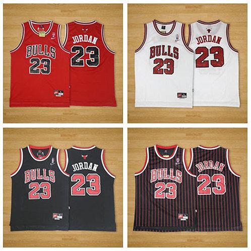 Men Michael Jordan Throwback Red, White, Black, Black/Stripe