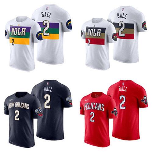 Men Lonzo Ball T-Shirt White, Navy Blue, Red