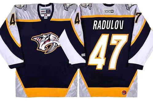 Men Alexander Radulov Throwback Navy Blue