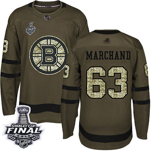 Youth Brad Marchand Stanley Cup Final Olive, Purple, Camo