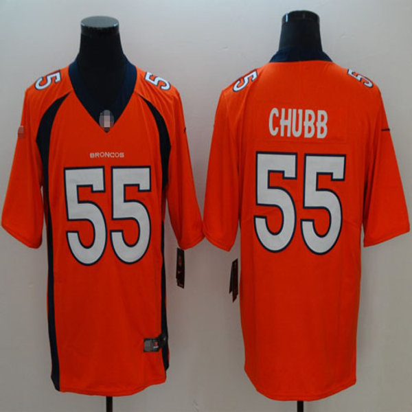 huge selection of 472d8 6f837 Youth Bradley Chubb Vapor Limited Orange, White, Navy Blue, Rush, Inverted  | YUKIJERSEY