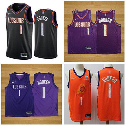 Men Devin Booker City Edition Black, Purple, Orange