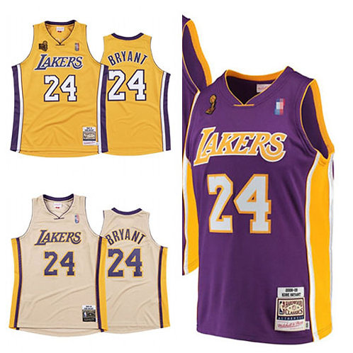 Men Kobe Bryant 2008-09 Hardwood Classics Gold, White, Purple
