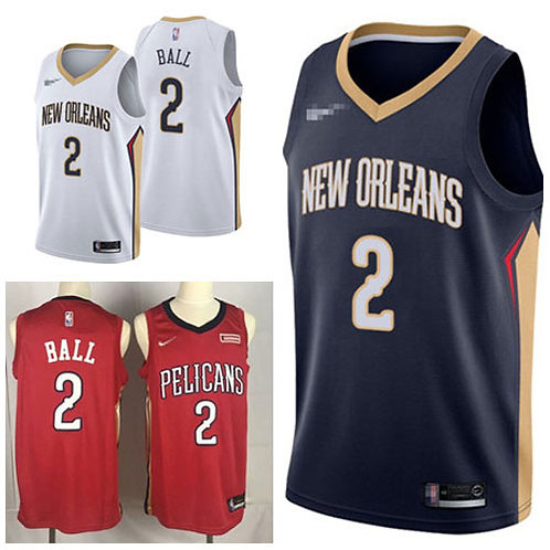 Youth Lonzo Ball Icon Edition Navy Blue, White, Red