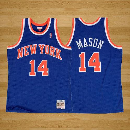 Men Anthony Mason 1991-92 Throwback Blue