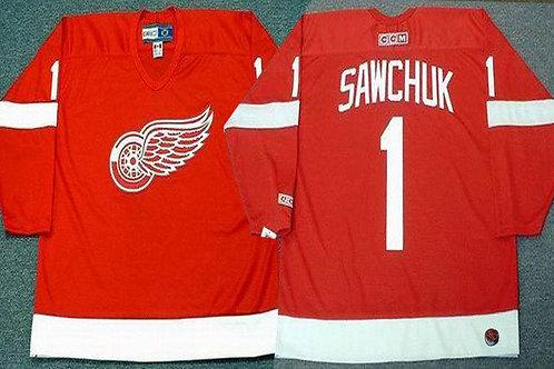 Men Terry Sawchuk Throwback Red