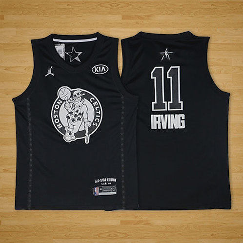 Men Kyrie Irving 2018 Game Black and White