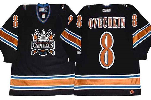 Men Alex Ovechkin Throwback 2005 Black, White