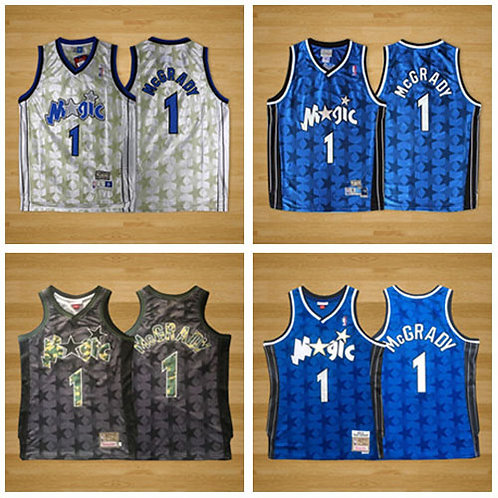 Men Tracy Mcgrady Classic Throwback Blue, White, Black