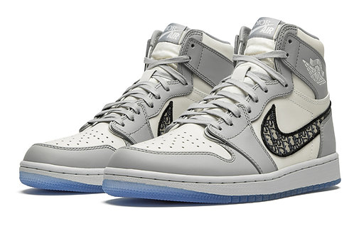 Men Normal quality Air 1 Retro High White and Gray