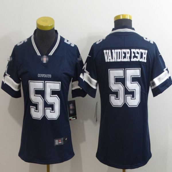 promo code 5e368 0d21b Women Leighton Vander Esch Vapor Limited Navy Blue, White, Rush, Inverted    YUKIJERSEY