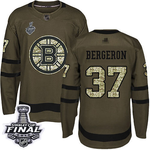 Youth Patrice Bergeron Stanley Cup Final Olive, Purple, Camo