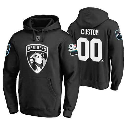Men Custom Printing All-Star Pullover Hoodie Black, White