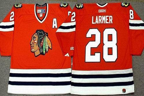 Men Steve Larmer Throwback Red, White, Black
