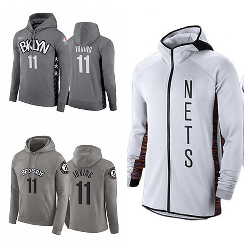Men Kyrie Irving City Hoodie Gray, White