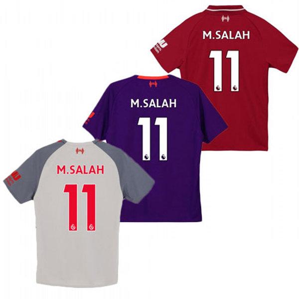 huge selection of 814ef e3bc8 Youth LIV Mohamed Salah 18-19 Home, Away, Third | YUKIJERSEY