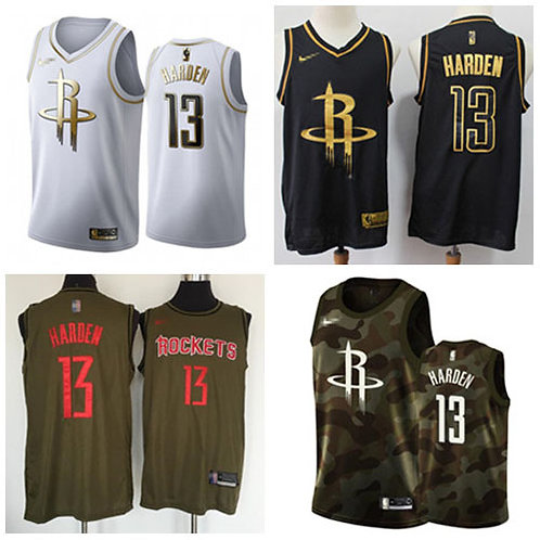 Men James Harden Black Golden, White Golden, Olive