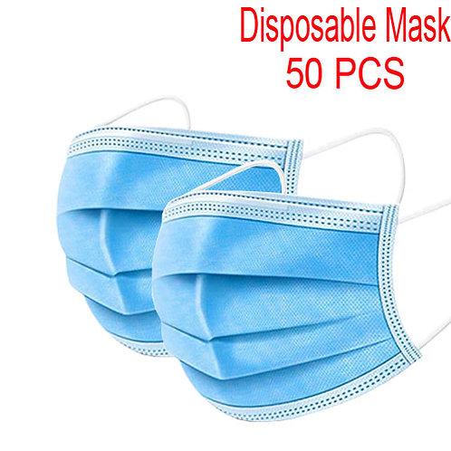 Disposable Civil Masks 3-Layer Full Face Mask (50packs)