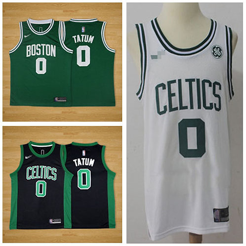 Youth Jayson Tatum Icon Edition Green, White, Black