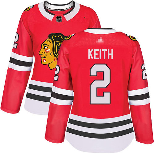 Women Duncan Keith Red, White, Black